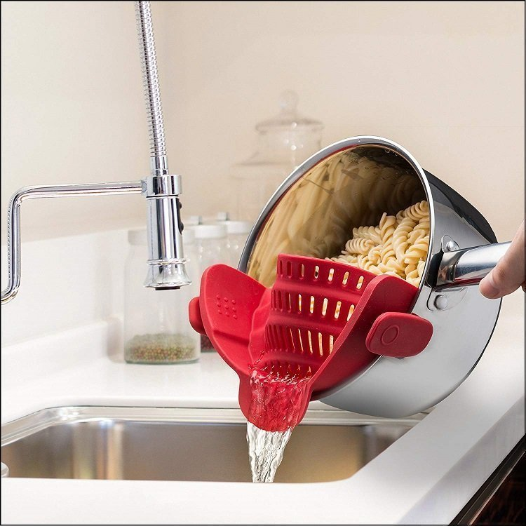 Clip On Silicone Pasta Strainer 3