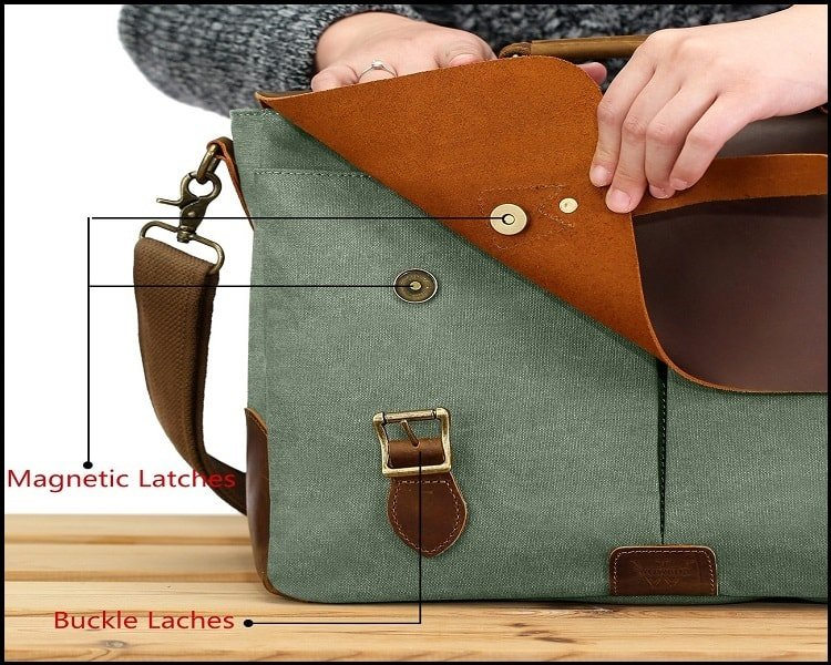Leather and Canvas Messenger Bags 2