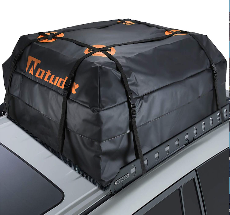 NATUDIX Waterproof Roof Top Cargo Bag Fits All Cars