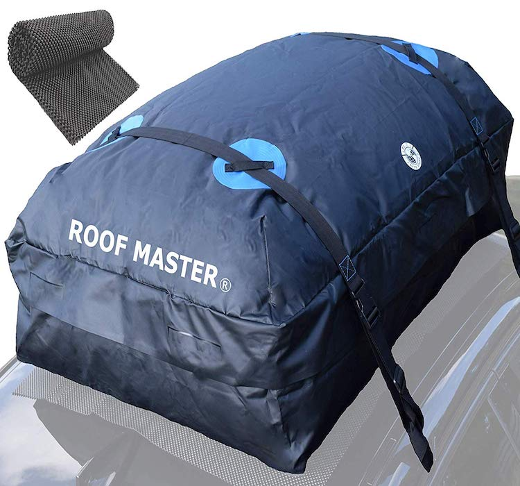ROOF MASTER Premium Waterproof Roof Top Cargo Carrier Bag Fits All Cars