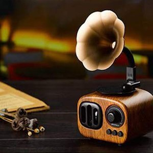 Retro Bluetooth Speaker Wood Style