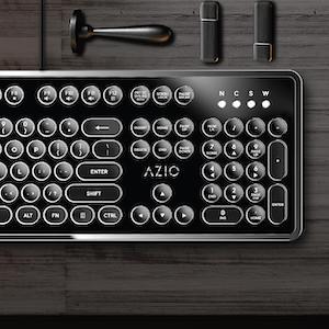 The Azio Retro a mechanical keyboard