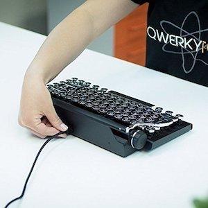 The Qwerkywriter S Typewriter Inspired Retro Mechanical Keyboard