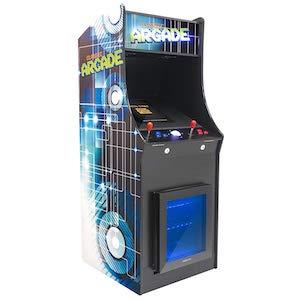Retro Arcade Machine With Built-in Refrigerator