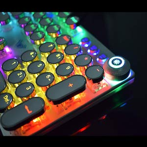 Retro Steampunk Keyboard for Game and Office