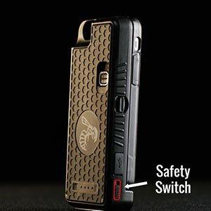 Stun Gun Concealed Inside a Durable and Detachable Cellphone Case