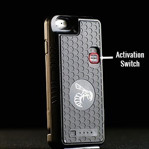 Stun Gun Concealed Inside a Durable and Detachable Weatherproof Cellphone Case