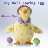 Crazy Chicken Toy Doll Laying Egg