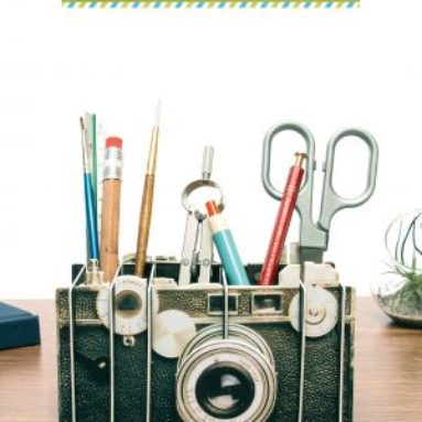 Vintage Camera Stylish Storage for Your Pens, Pencils, and More!